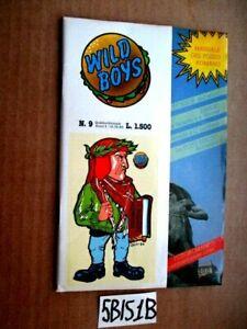 WILD BOYS n.9 con copertina adesiva ANNO I  12-09-1986 Cucador  (5BIS1B)