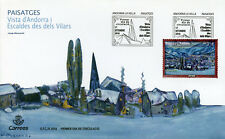 Spanish Andorra 2018 FDC Josep Moscardo 1v Cover Landscapes Art Paintings Stamps