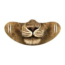 The Mountain Lion Warrior Big Cat Animal Adult Face Covering with Ear Slits