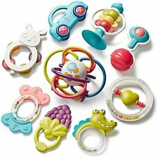Baby Rattle Toys, Teething Toys 0-6-12 Months Baby's Grasping Gift Toys BPA Free