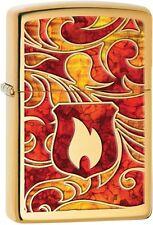 Zippo 2015 2016 Choice Catalog Flame Fusion Lighter High Polish Brass 28975 NEW
