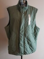 Adidas PrimaLoft Quilted Vest Green Packable Stone Green