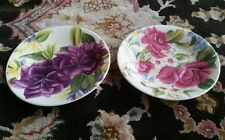 2 Royal Kendal Bloomsbury English Bone China Collector Plates By Tricia Harrison