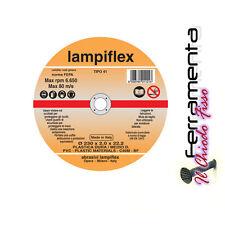 DISCO TAGLIO PLASTICA DURA LAMPIFLEX 115X1,6 PLEXIGLASS POLICARBONATO TUBI PVC