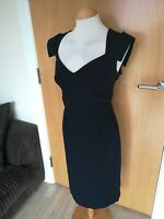 Ladies Dress Size 16 HOBBS Black Shift Wiggle Office Work Day Party Smart