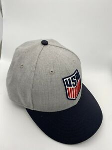 US Soccer 59Fifty New Era Fitted Hat Cap Team USA Size 7 1/4