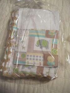 PRICE LOWERED -Zoo Animals on a White Background Baby Blankets and Burp Cloths