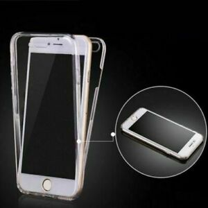 Front and Back Soft Clear Transparent TPU Gel Case For iPhone 7, 8, 8 Plus, X,XS