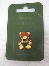 MOC Harrods Teddy Bear Pin Badge Dungaree Pin Cloisonné Excellent Shape  T95