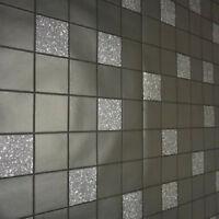 89130 Tiling on a Roll Granite Black Kitchen & Bathroom Wallpaper