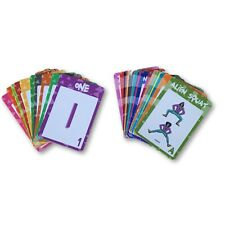 Alphabet, Number And Exercise Flash Cards
