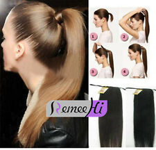 """2018 New Wholesale 18""""22""""26""""30"""" Ponytail clip-on Remy Human Hair Extensions 120g"""