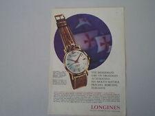 advertising Pubblicità 1961 OROLOGIO LONGINES