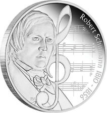 Tuvalu 2010 Great Composers 1oz Silver Proof Coin Robert Schumann Perth Mint