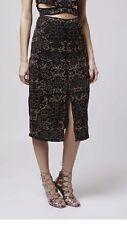 BNWT Top Shop Pinstud Split Midi Skirt Size 12 RRP £ 75