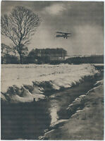 Feindflug im Winter, Original-Photo, um 1916