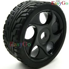 4pcs 1/8 RC On-Road Off-Road Buggy Soft Tires Tyre & Hex 17mm Wheels for 1/8 Car