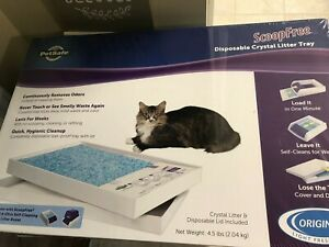 3 PetSafe Scoop Free Disposable Crystal Litter Tray & Lid PAC00-14229