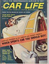 Car Life Magazine  Aug 1957 sports cars-ford retractable test-detroit  Isetta ad