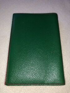Auth Hermes Epsom Leather Agenda Notebook Cover EUC
