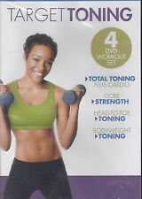 Pilates and Toning EXERCISE DVD - TARGET TONING - 4 Workouts