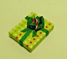 Dollhouse Miniature Handcrafted Christmas Holiday Gift Package Candy Cane  1:12