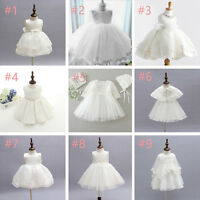 0-2Y newborn Toddler Baby Girls Party Wedding Baptism Christening Gown Dresses