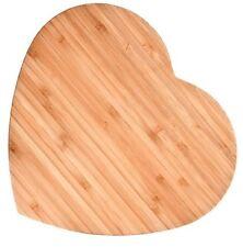 Bamboo Heart-shaped Cutting Board, Large, New, Free Shipping