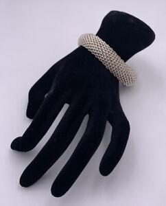 Tiffany & Co 925 Sterling Silver Somerset Mesh Bangle Bracelet