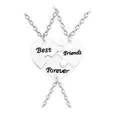 Partnerkette BEST FRIENDS FOREVER 3 Partner Anhänger Ketten Puzzle Freundschaft