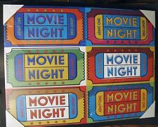 """Movie Night Tickets Canvas Wrapped Frame 18"""" X 24"""""""