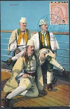 1914 Durres Albania Picture Postcard Cover to Vionici Sailors on Boat