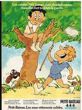 Publicité Advertising 1975 Les Sous vetements pour enfants Petit-Bateau
