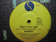 "Madonna ""Who's That Girl"" Excellent Oz 7"""