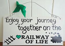 SHABBY CHIC RAILWAY OF LIFE WEDDING LOVE TRAIN LOVERS CHRISTMAS FRIENDS GIFT