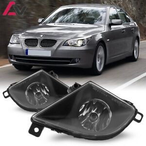 For BMW E60 08-10 Clear Lens Pair Bumper Fog Light Lamp OE Replacement DOT Bulb