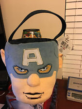 Captain America Plush Easter Basket with tag (halloween basket)