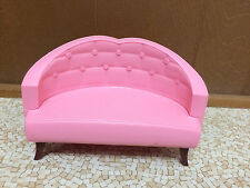 2006 Barbie Doll Dreamhouse Pink Couch Sofa Love Seat Living Room Furniture Rare