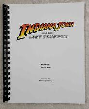 Indiana Jones and The Last Crusade Script Reprint Full Screenplay Script 1989