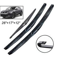 Set di 3 spazzole tergicristallo anteriori e posteriori per Qashqai J10 2007-2013 2012 2011 accessori auto