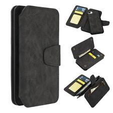 Apple iPhone 8 Plus - Luxury Coach 2 Series Flip Wallet Case Black