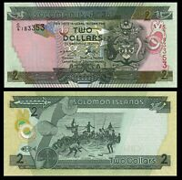 Solomon Islands 2 $ Dollars ND 2006 P 25 UNC Uncirculated Banknote