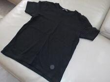 Tee-shirt noir, manches courtes, col rond, XS (16 ans)