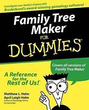 Family Tree Maker For Dummies by Matthew L. Helm, April Leigh Helm (Paperback, 1999)