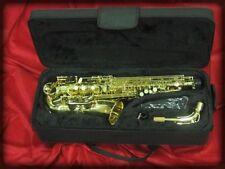 Saxofon alto kobrat nuevo,estrenar, lacado dorado