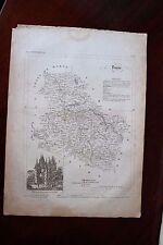 ✒ CARTE ca1830 département YONNE Auxerre Avallon Joigny Sens Tonnerre