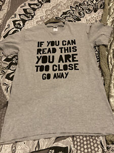 mens t shirts medium wore once grey funny
