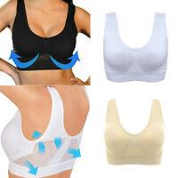 Women Comfort Air Bra Mesh Breathable Underwear Shockproof Sports Supports Bras