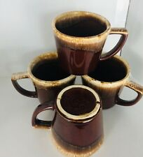 McCoy Mug, Brown Drip, Mint Condition, Vintage Lot of Four