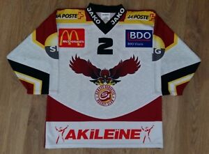 HC Geneve-Servette Switzerland #2 Hauer rare Hockey jersey size M